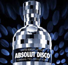 Absolut Disco vodka bottle