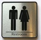 Unisex public restroom sign