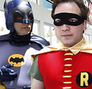 Batman and Robin at Comic Con 2014 San Diego