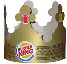 Burger King paper crown hat