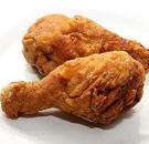 Fried chicken drumsticks