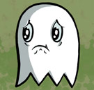 Confused ghost is crying
