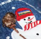 Denim snowman on Christmas