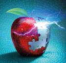 Dystopian apple hit by lightning