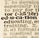 Education dictionary entry