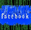 Matrix data behind a shredded Facebook logo