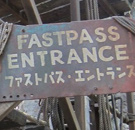 Decrepid Fastpass Entrance sign