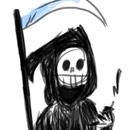 Grim reaper texting