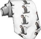 Men's tie with Grim Reaper pattern