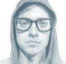 Hipster sketch looks like Unabomber