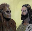 Jesus and Bigfoot meeting