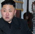 Kim Jong-un playing guitar