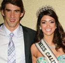 Michael Phelps with Miss California beauty queen