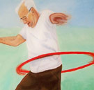 Old man hula hooping