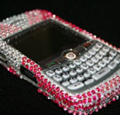 Pink studded Blackberry phone