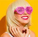 Rose color glasses