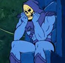 Skeletor is mad and sulking