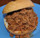 Sloppy Joe served at a cafeteria