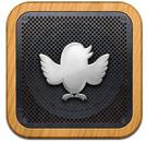 Speaker with Twitter logo