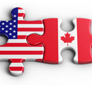 American and Canadian puzzle pieces fit together