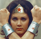 Wonder Woman with bracelets and headband