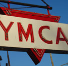 Retro YMCA neon sign