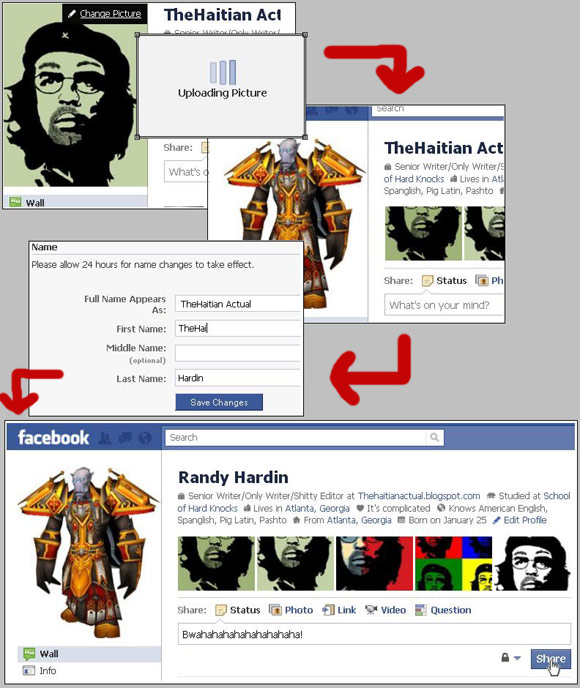 Identity theft on Facebook - change your name and picture