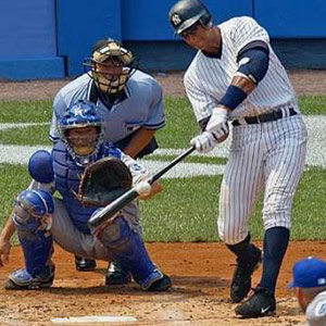 Alex Rodriguez low baseball swing