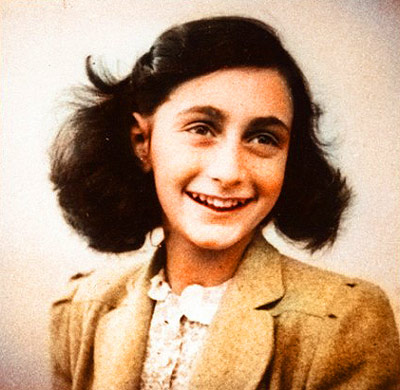 Color photo of Anne Frank