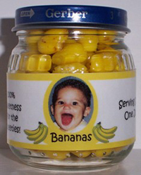 Gerber baby food jar, banana flavor