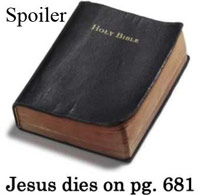 Bible with spoiler warning