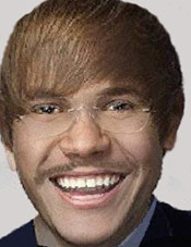Justin Bieber and Herman Cain morph