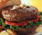 Bison meat burger
