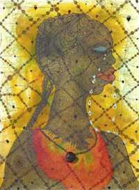 Painting of an ancient African woman