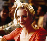 Cameron Diaz with hair gel in There's Something About Mary
