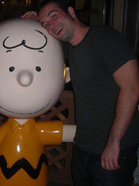 Charlie Brown consoling KC