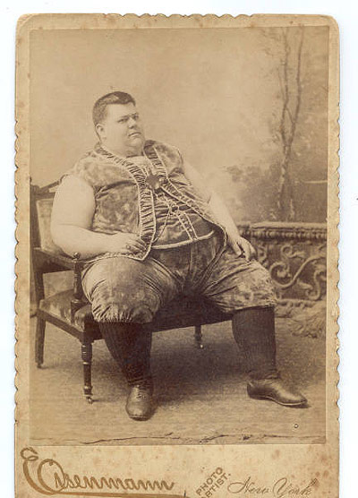 Chauncy Morlan - fat circus freak