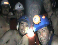 Chilean miners underground photo