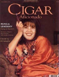 Monica Lewinsky on the cover of Cigar Aficionado magazine