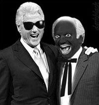 Clinton in blackface