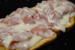 Cream chipped beef on toast