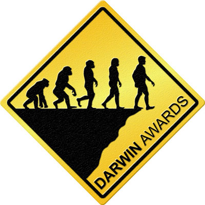 Darwin Awards warning sign