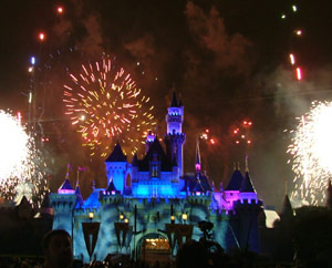 Disneyland fireworks for homecoming