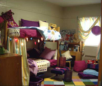 Girl's college dorm room