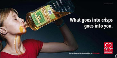 Drinking cooking oil ad