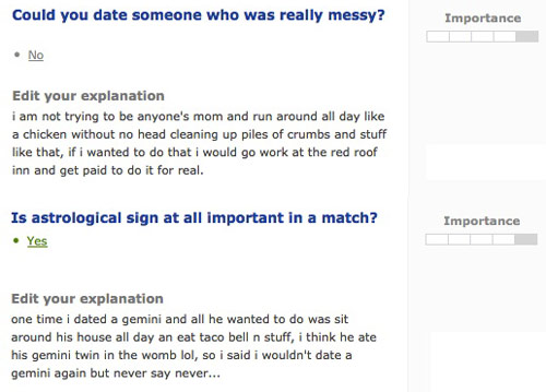 dating sites stupid
