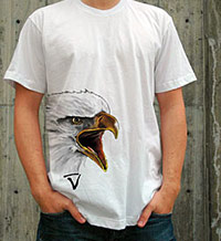 Eagle on a white tshirt