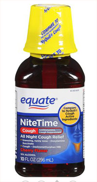 Equate nighttime cough syrup