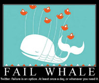 Twitter fail whale motivational poster
