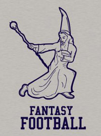 Fantasy Football tshirt with a wizard
